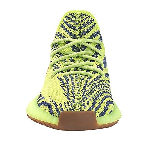 Boost 350 V2 Laufschuhe für Herren und Damen Outdoor Sneakers/Fitnessstudio,Boost 350 Rot/Gelb Familie-Gelb/Braun,EU=45
