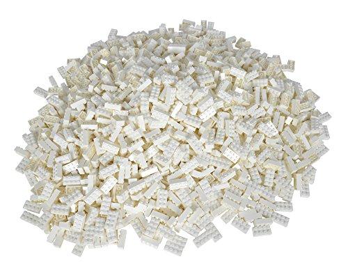 Simba 104118930 - Blox 500 weiße 8er Bausteine