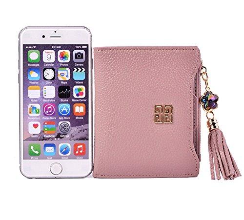 Genda 2Archer Moda Fiore Nappa Bi-Fold Portafogli e Pelle Borsa per la Donna (Blu) Rosa