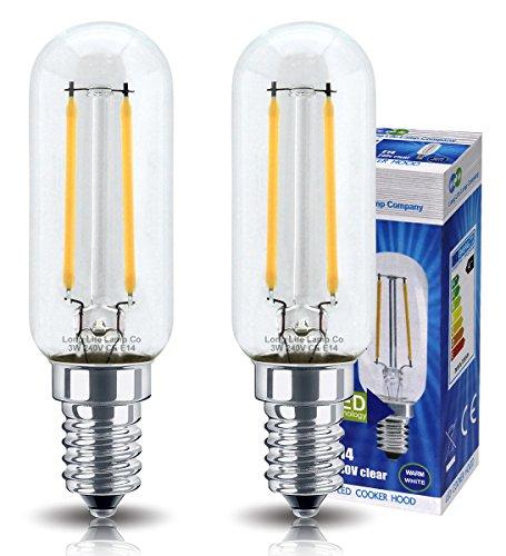LED-Dunstabzugslampe, 3 Watt, E14, kleine Edison-Fassung, entspricht 35 Watt, warmweiß, langlebig, 2 Stück