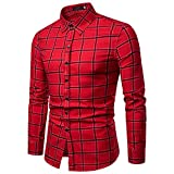 Hemd Herren Slim Fit | Sannysis Männer Kariertes Hemden Longsleeve Freizeit Businesshemd Shirt Sweatshirt Langarmshirt Top