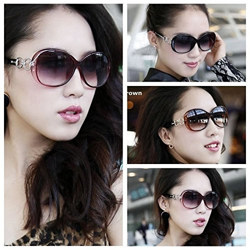 Preisvergleich Produktbild Dark Braun New Damen Retro Vintage Love Herz Shades Eyewear Designer Sonnenbrille