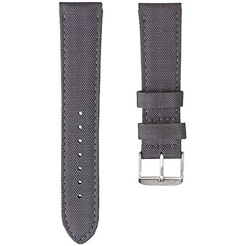 Bracelet de Montre Geckota® Sport en Nylon, Rembourré, Résistant, Qualité et Confort, Gris, 22mm