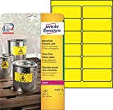 Avery Zweckform L6107-20 Wetterfeste Folien-Etiketten (A4, 240 Stück, 99,1 x 42,3 mm) 20 Blatt gelb