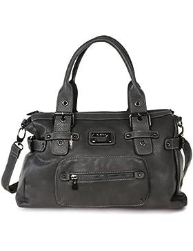 SilberDream Schultertasche, Handtasche Damenhandttasche Kunstleder grau OTJ103K