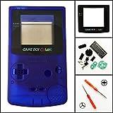 Ersatz Full Gehäuse Shell Schutzhülle für Nintendo Gameboy Color GBC, transparent blau