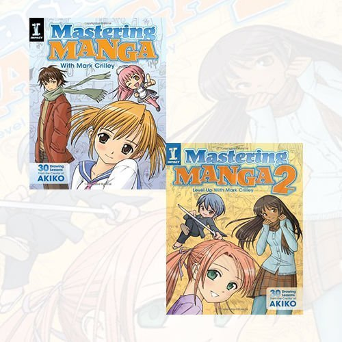 Mark Crilley Mastering Manga 2 Books Bundle Collection (Mastering Manga with Mark Crilley: 30 Drawing Lessons from the Creator of Akiko,Mastering Manga 2: Level Up with Mark Crilley)