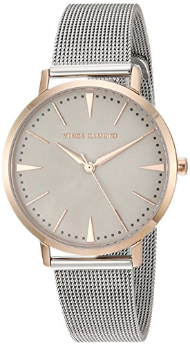 Vince Camuto Women's VC/5345TPRT Rose Gold-Tone and Silver-Tone Mesh Bracelet Watch