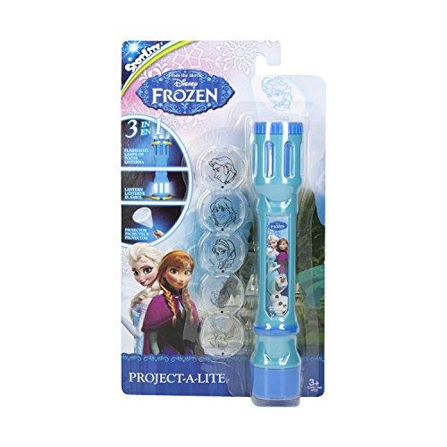 Disney Frozen 40314 Die Die Eiskönigin Taschenlampe mit 6 austauschbaren Linsen zum Projizieren-in Blisterverpackung, 5.2 x 1.4 x 9 cm (Linse Taschenlampe)