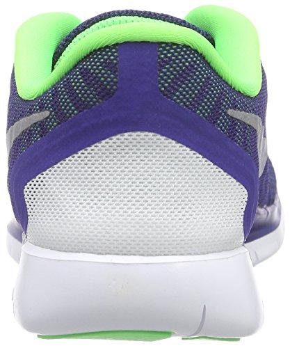 Nike  Free 5.0 (Gs), Chaussures de running garçon Bleu (Dp Ryl Bl/Mtllc Slvr-Grn Strk)