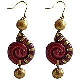 Avarna Terracotta Earrings Era0001 For Women (Maroon )