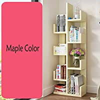 SED Home Storage Rack Student Bookshelf Tree-Shape Bookcase Flower Shelf Layers Commodity Shelf, Sorting Stands Space Save Shelf,Maple Colors