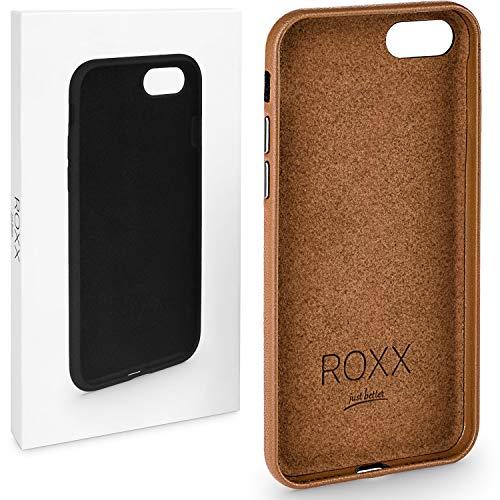 ROXX Hard Case Leder Hülle | Kompatibel mit Apple iPhone 7/8 Plus | Wie das Original nur Besser | Testsieger -