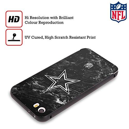 Ufficiale NFL Righe 2017/18 Dallas Cowboys Logo Nero Cover Contorno con Bumper in Alluminio per Apple iPhone 6 Plus / 6s Plus Marmo