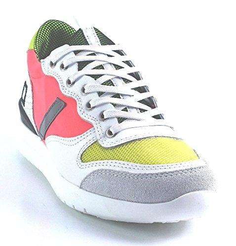 D.A.T.E. Sneaker - koralle gelb Weiß