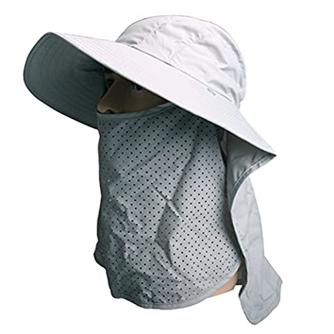 Outdoor Fishing Hat - iParaAiluRy Summer Fashionable Quick Drying UV Protection Sun Hat with Neck Face Flap Cover Wide Brim