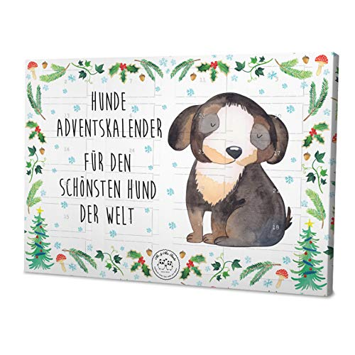 Mr. & Mrs. Panda Weihnachtskalender, Kalender, Hunde Adventskalender Hund entspannt Weihnachtszeit mit Spruch - Farbe