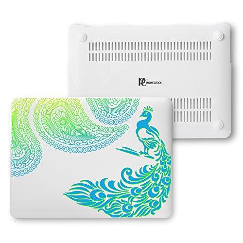MacBook Air 13Fall, Kunststoff Hard Shell Snap On Schutzhülle für MacBook Air 33cm (A1466& A1369) 13 Inches pfau (In Air Speck Macbook Fällen, Den In 13)