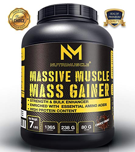 Nutrimuscle MASSIVE Muscle Mass Gainer - 7 LBS - Choco Treat Flavour