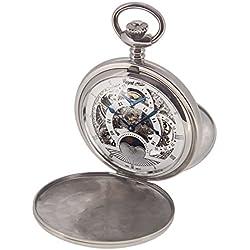 Regent Hills Unisex Brass Pocket Watch With Chain 57527CP-IWWS2