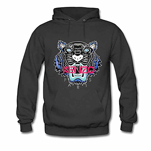 Kenzo Tiger Printed Womens Pullover Hooded Sweatshirt S
