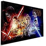 Star Wars Helden Laserscherter Leinwandbild LaraArt Studio Wanddeko Wandbild 40 x 30 cm