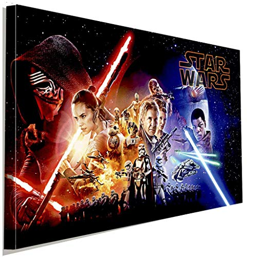 Star Wars Helden Laserscherter Leinwandbild LaraArt Studio Wanddeko Wandbild 60 x 40 cm