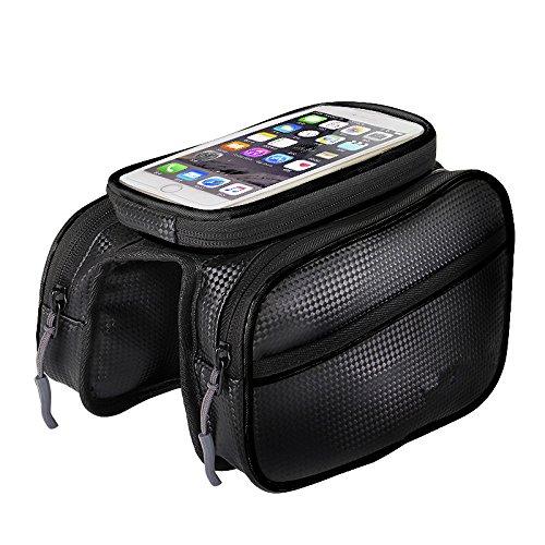 LWJgsa Mountainbike Tasche Touchscreen Handy Tasche Wasserdichte Tasche Auf Armaturen Black