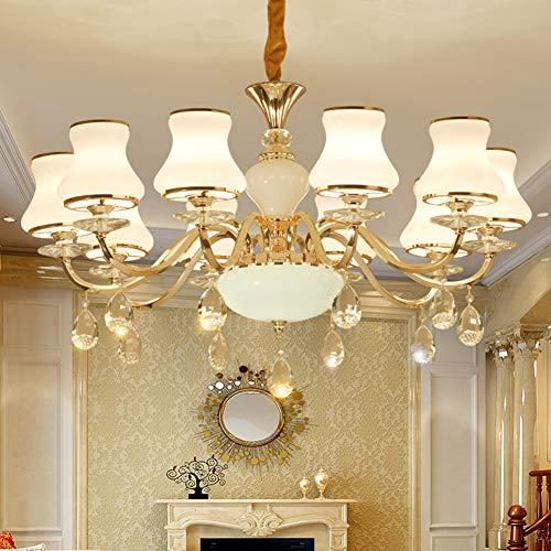 CUICANH Europäische Crystal Glas klar Kronleuchter,Simple Moderner Kerze Deckenlampe Für wohnzimmer Esszimmer Schlafzimmer Studie Hotel Gang-10 Köpfe 92x50cm(36x20inch) -