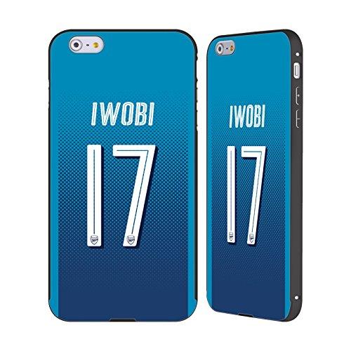 Ufficiale Arsenal FC Lucas Pérez 2017/18 Giocatori Away Kit Gruppo 1 Nero Cover Contorno con Bumper in Alluminio per Apple iPhone 6 Plus / 6s Plus Alex Iwobi