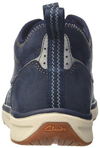 Clarks Orson Mid, Zapatillas Bajas Atléticas Para Hombre Azul (nubuck Azul Marino)