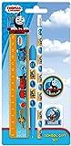 Thomas & friends die kleine Lokomotive - Schreib Set Schreibset 5 Teile- bestehend aus Kugelschreiber, Bleistift, Lineal, Anspitzer, Radiergummi - tolles Geschenk für den Schulanfang - zum Befüllen der Schultüte