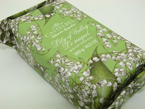 Castelbel Porto Lily of the Valley Luxury Bath Bar 10.5 Oz Gift Wrapped Portugal by Castelbel Porto