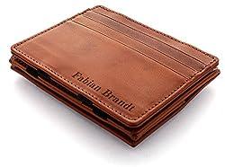 JAIMIE JACOBS Flap Boy mit Gravur - Das Original - Magischer Geldbeutel mit Münzfach RFID-Schutz Geschenk Herren echtes Leder (Cognac)