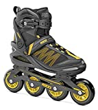 Roces Argon Inline Skate para Hombres, Hombres, Negro/Ámbar, 43