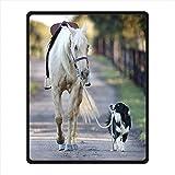Brauch Horse Pferd Vlies Decke und Werfen Blanket and Throw für Bett oder Sofa 102 Zentimeters x 127 Zentimeters