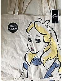 Disney~Alice in wondereland tote canvas reuseable bag~