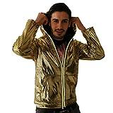 Electric Styles - Blinkender Electro Hoodie Hoodie (gold, XL)