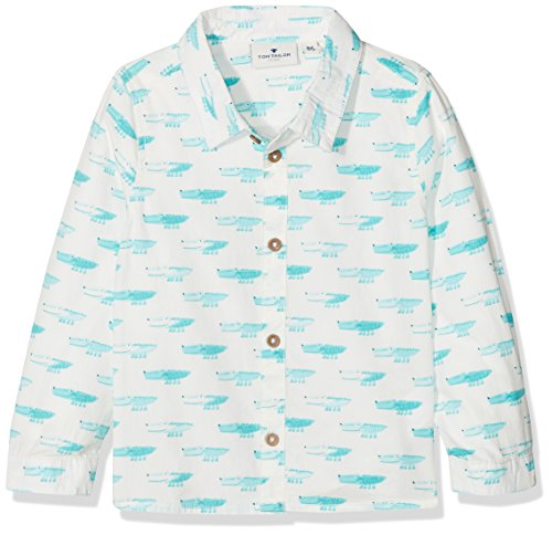 TOM TAILOR Kids TOM TAILOR Kids Baby-Jungen Hemd Shirt/Blouse Checked/Printed 1/1 Weiß (Soft Clear White 2067) 62