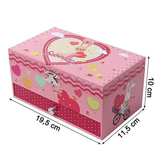 Songmics Schmuckkästchen Musikspieldose Spieldosen Musikdosen Spieluhren - Spieluhr für Kinder mit Spiegel JMC002 - 6