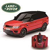 Range Rover Sport Official Licensed Remote Control Car for Kids with Working Lights, Electric Radio Controlled On Road RC Car 1:24 Model, 27Mhz Red, Great Toy for Girls and Boys