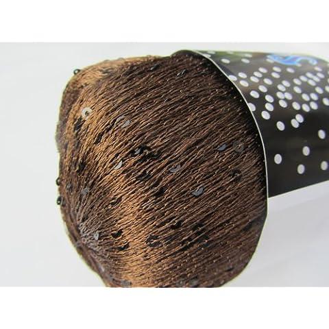 Knitting Fever Schmaltz Sequin Thread Carry Along Yarn Color 12 Chocolate by Schmaltz