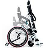 Leo II Lightest Manual Standing Wheelchair 59 lb High Grade Aluminium Alloy Mobility Hand-Powered with Polyurethane Suspension