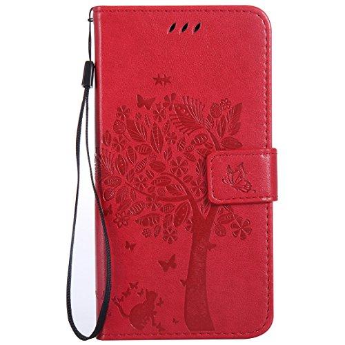 Nancen Tasche Hülle für Xiaomi Redmi Note 3 (5.5 Zoll) Flip Schutzhülle Zubehör Lederhülle mit Silikon Back Cover PU Leder Handytasche im Bookstyle Stand Funktion Kartenfächer Magnet Etui Schale