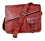 Sankalp Leather Handgemachte Vintage Leder Aktentasche Umhängetasche mit Reißverschluss, Laptoptasche, Businesstasche, 11 x 15 Zoll, NEU