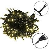 AUFUN LED Lichterkette Außen Bunt Außenlichterkette Weihnachtsbeleuchtung Wasserdicht IP44 mit 8 Leuchtmodi für Hochzeit,Party,Garten (50m,500LEDs,WarmWeiß)