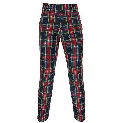 Murray - Herren Golfhose - traditionelles schottisches Tartanmuster - Stewart Schwarz - 34W / 33L