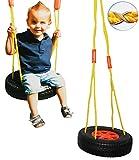 Unbekannt Schaukel / Schaukelreifen - incl. Seil & Haken / Brettschaukel - runde Kinderschaukel aus Kunststoff - Schaukelbrett / Kunststoffschaukel - Baby / Kinder - fü..