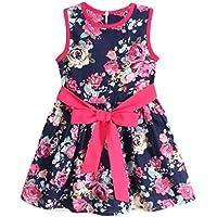 Culater® Ragazze Fiore Principessa partito del vestito floreale senza maniche bambini
