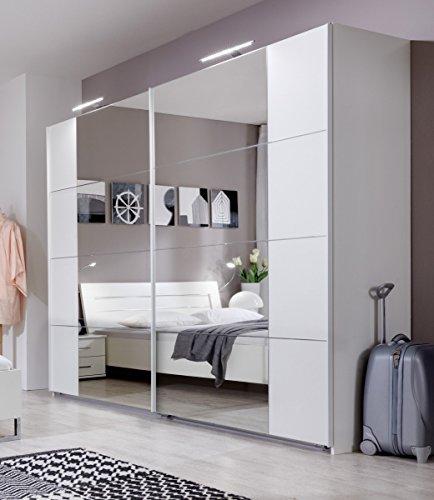 Dreams4Home Schwebetürenschrank 'Lence II', Schrank, Schlafzimmerschrank, Kleiderschrank, Schrank mit Spiegel, Beleuchtung:mit...